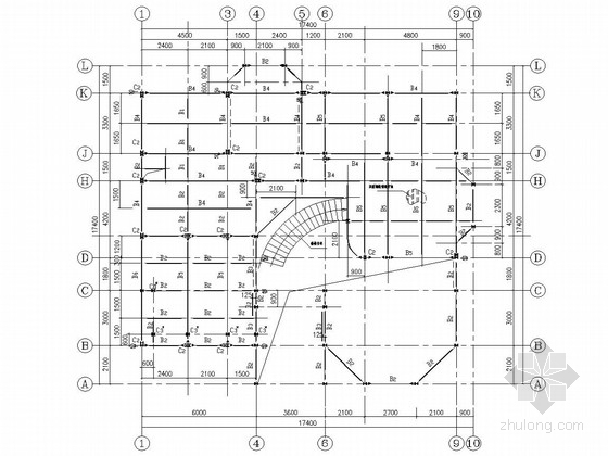 三层轻钢结构别墅结构施工图