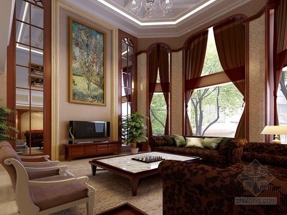 欧式豪华别墅居室3D模型下载