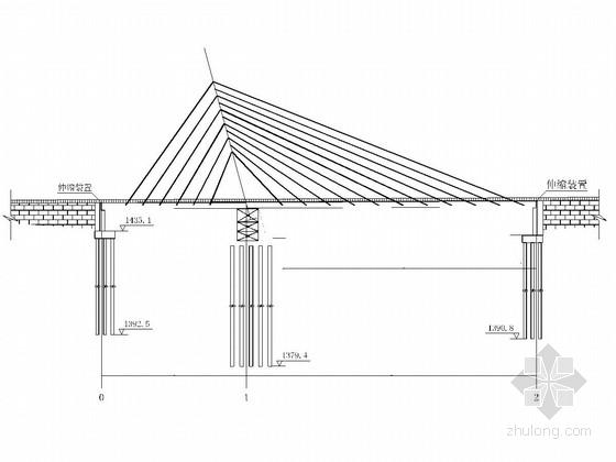 主跨120米独塔组合梁特种斜拉桥设计图(46张 设计美观)
