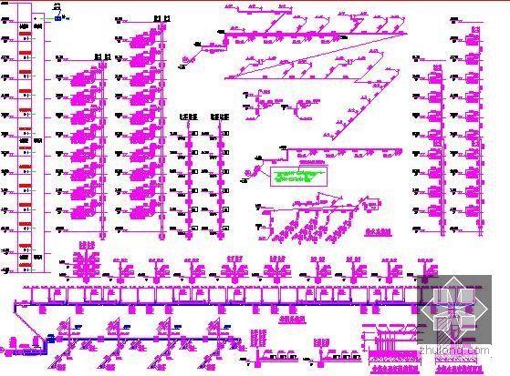 [新疆]2015年住宅区消防工程预算书(附图纸广联达软件应用)-给水及采暖系统图
