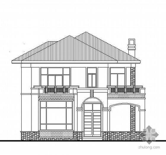 某二层坡屋顶别墅建筑施工图附结算