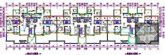 [新疆]2015年住宅区消防工程预算书(附图纸广联达软件应用)-一层电气平面图