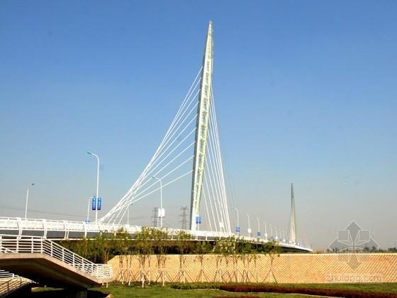 彩针型独塔斜拉桥工程及接线道路施工组织设计157页