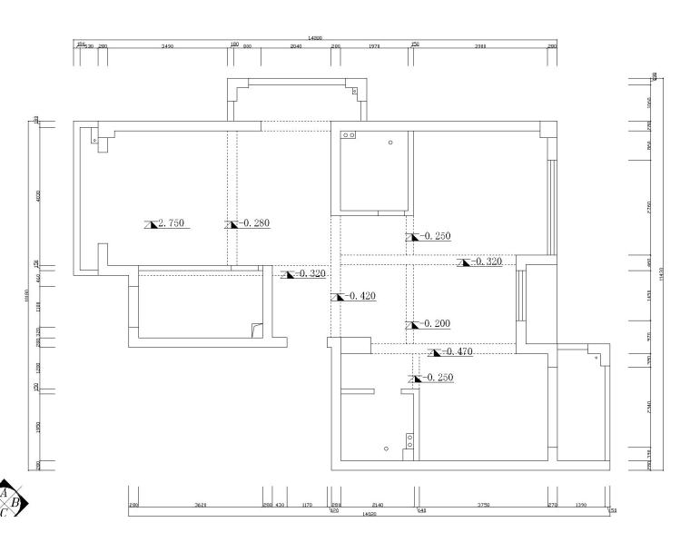 简欧风格四居室住宅空间设计(附施工图)