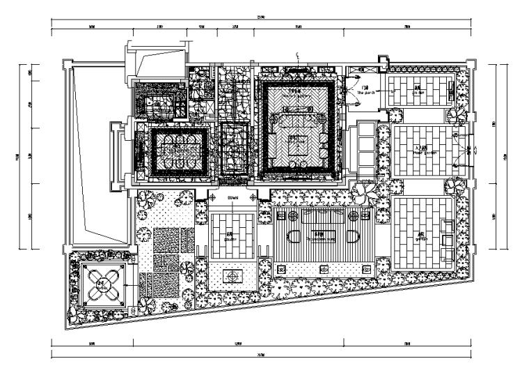 大艺术家·繁秋——佛山绿岛湖项目别墅样板间设计施工图及效果图