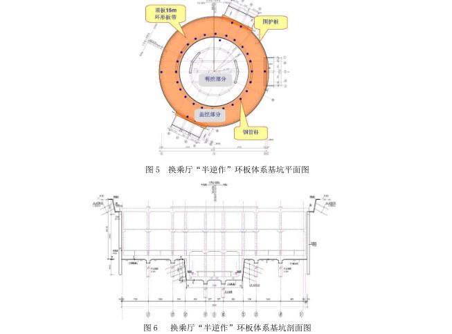 """超深大基坑""""半逆作""""环板支撑体系的应用及力学分析_3"""