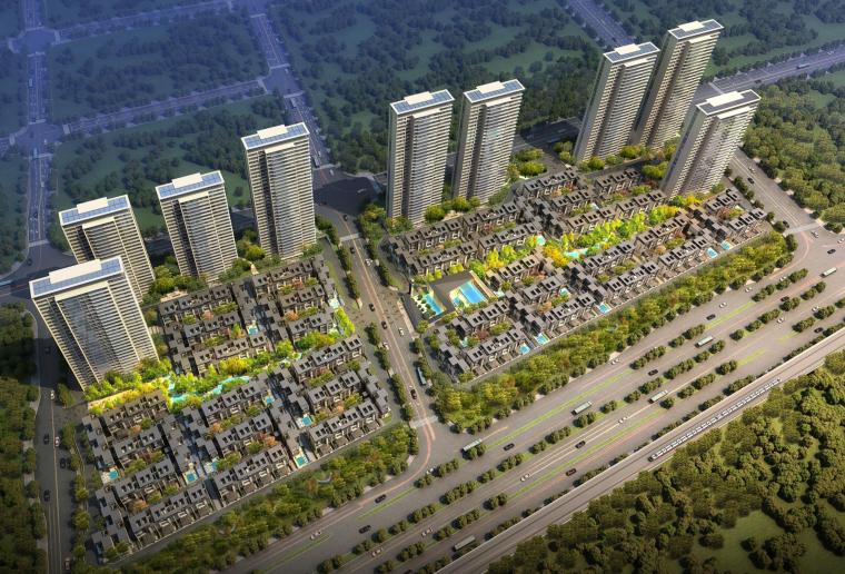 [安徽]合肥高端别墅区及高层住宅居住区建筑方案设计文本