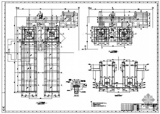 江阴某炼钢工程2#RH精炼系统设备基础施工图