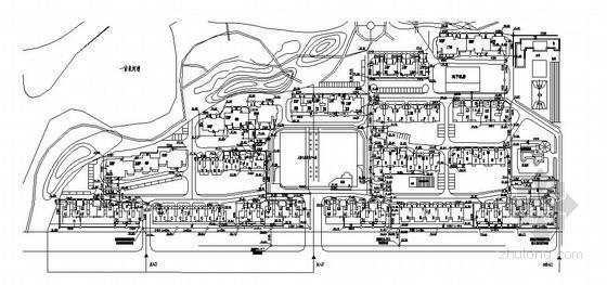 [保定]某小区室外管线综合图