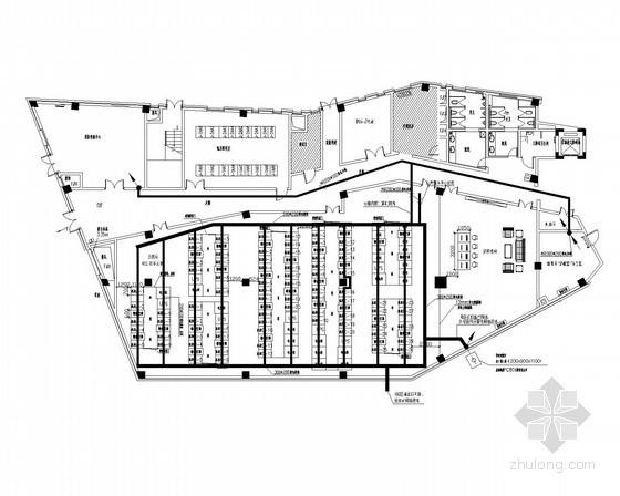 [长沙]大型数字服务中心智能化系统施工图纸79张(地下三层)