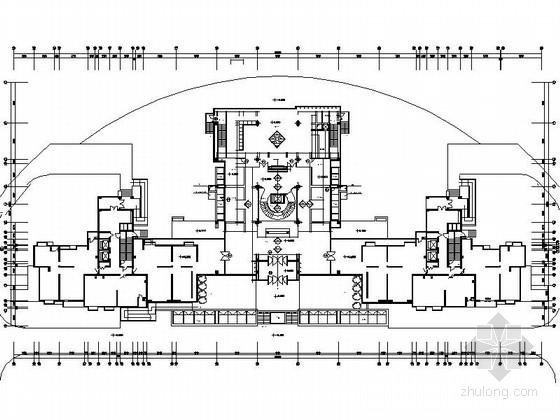 [天津]现代简约大型高档会所室内设计全套施工图
