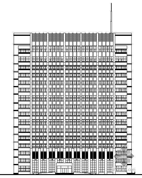 [南京]某十六层办公楼建筑施工图