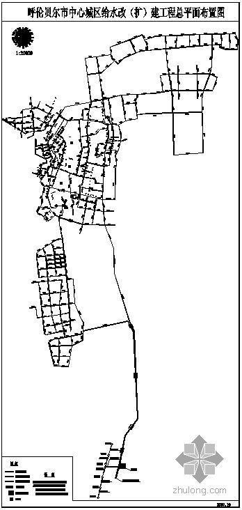 呼伦贝尔市城区给水管道改造平面图纸