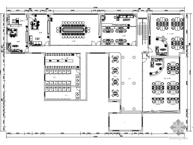 环艺学院办公室平面图