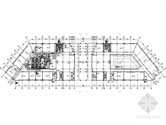 [湖北]科技中心空调通风及防排烟系统设计施工图(风冷热泵机组)