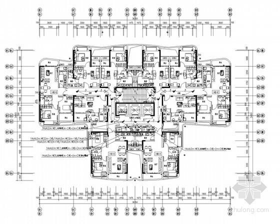 [广东]高层商住楼强弱电系统施工图108张