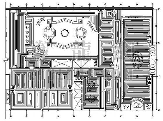 北京某洗浴中心地板辐射采暖设计图