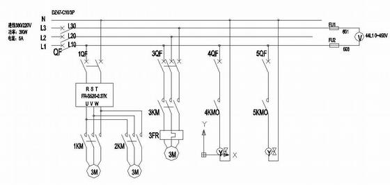 脱硫废水处理控制箱端子接线图