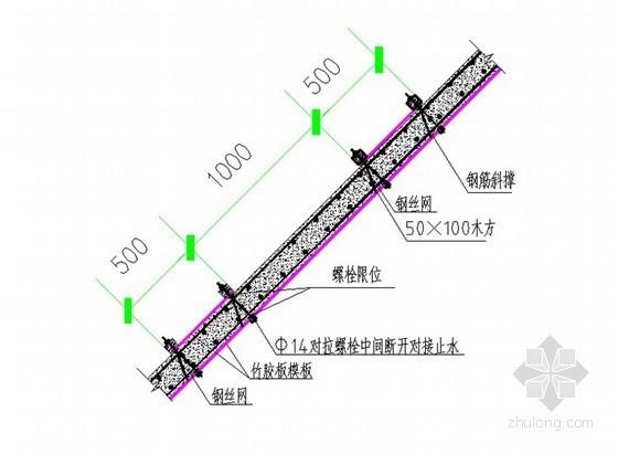 现浇钢筋混凝结构坡屋面混凝土施工工法(2011年 坡度25~75°之间)