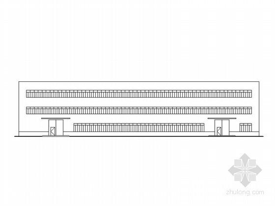 标准化钢结构图资料下载-[长垣]某三层18米钢结构标准化厂房建筑施工图