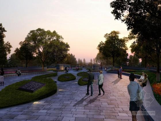 广场设计PSD分层素材下载