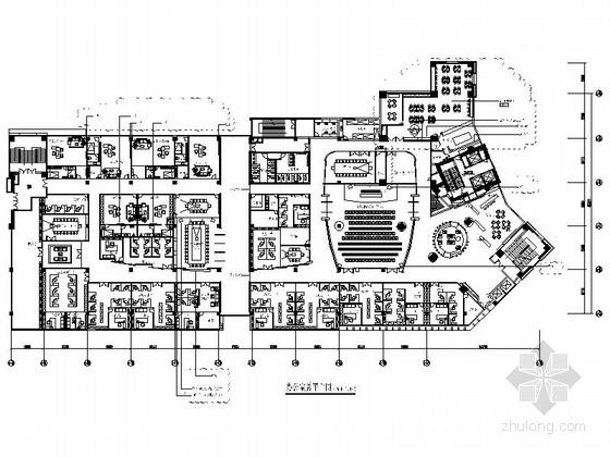 [深圳]市级现代名城住宅管理现代办公室装修设计施工图(含电气及暖通图)