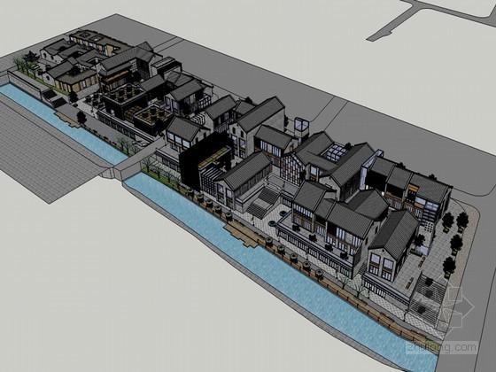 古典商业建筑SketchUp模型下载