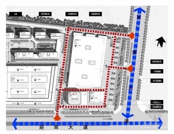 [江西]现代风格国际汽车城销售中心规划设计方案文本-现代风格国际汽车城销售中心分析图