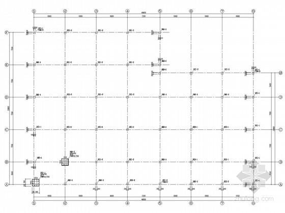 局部四层框架食堂结构施工图(坡屋面)