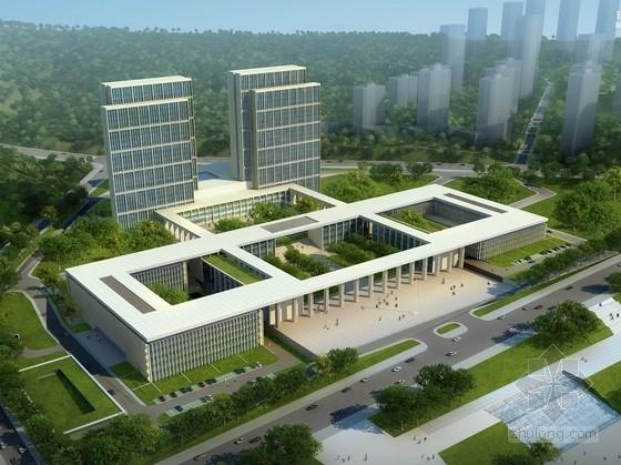 [四川]现代风格高层市区行政办公建筑设计方案文本