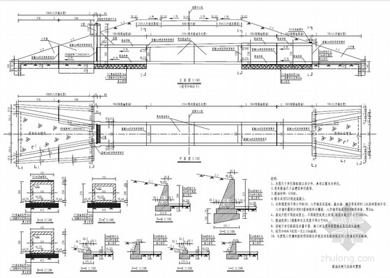 2.5m道路箱涵及闸门工程全套施工图