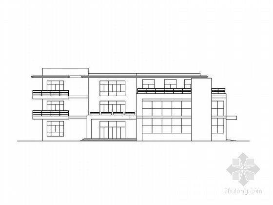 [安徽]现代多层框架式办公楼建筑施工图
