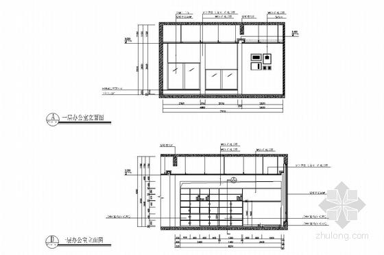 [浙江]皮革之都生产出口时尚皮草公司研发中心施工图 办公室