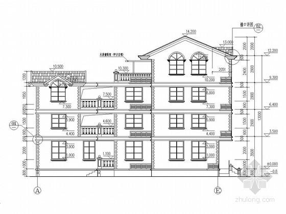 四层框架结构私人住宅结构施工图