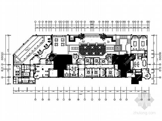 [浙江]某精装会所室内装修CAD施工图