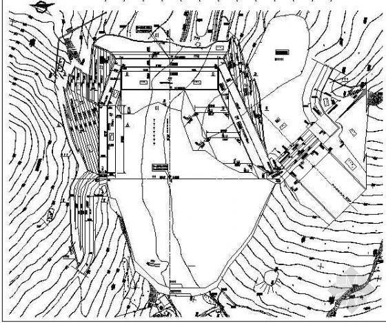 某面板堆石坝坝基开挖支护设计图