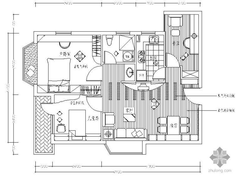 某三室两厅室内装修施工图