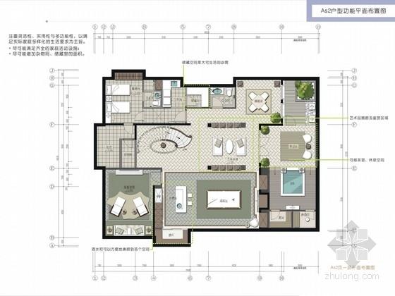 [北京]经典高贵欧式新古典风格两层别墅精装修方案图