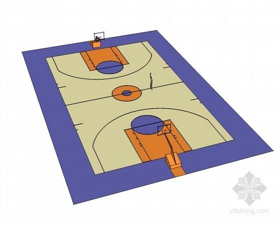 篮球场SketchUp模型