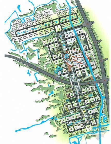 上海南汇中国电信信息园全套景观设计方案