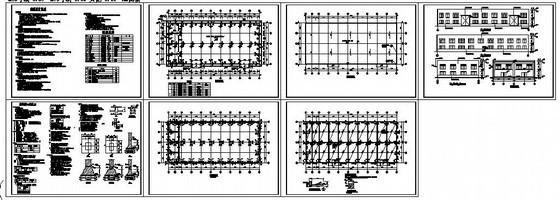株洲某砖混厂房结构设计图