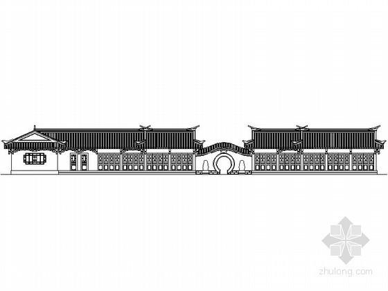 [仿古建]某游园内木偶戏室、编制作坊及小卖部古建筑施工图