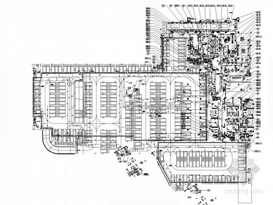 [湖北]超高层五星级宾馆酒店暖通全套施工图(系统全面 详图多)
