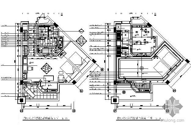 酒店两套标准型客房设计装修图
