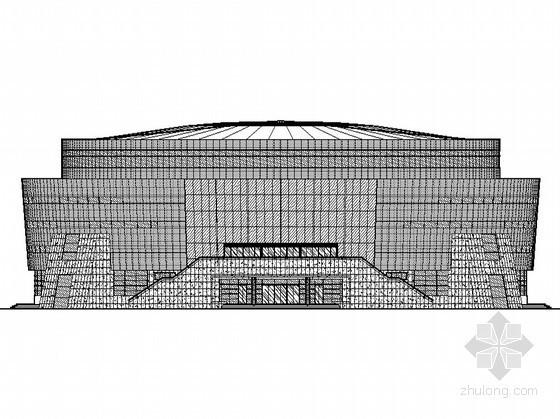[修水县]某文化体育中心体育馆幕墙外装饰施工图