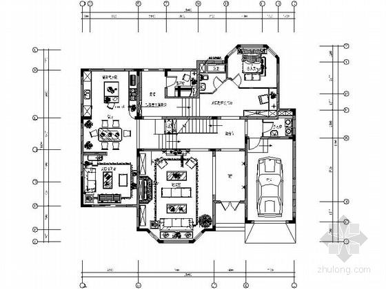 [武汉]法兰西田园风情独栋双层别墅装修施工图