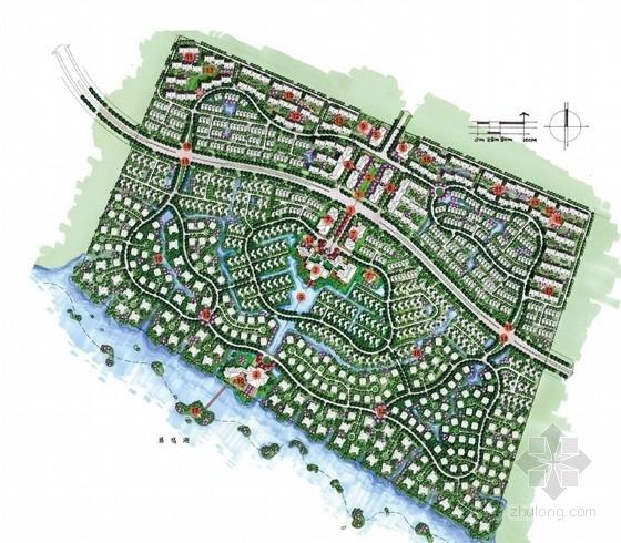 [郑州]法式新古典风格滨水别墅区景观概念设计方案