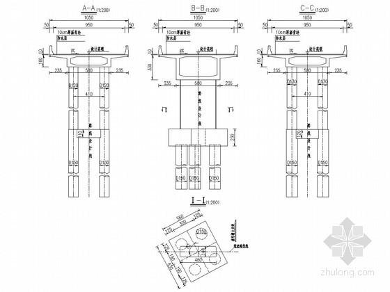 连续箱梁桥桩基地质图及桥型布置图