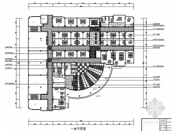 [西安]某校区大厦室内装修图(含效果)