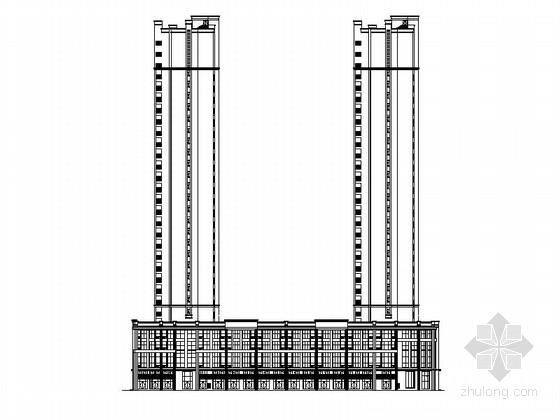 [湖南]高层多元化现代风格知名地块规划及单体建筑施工图